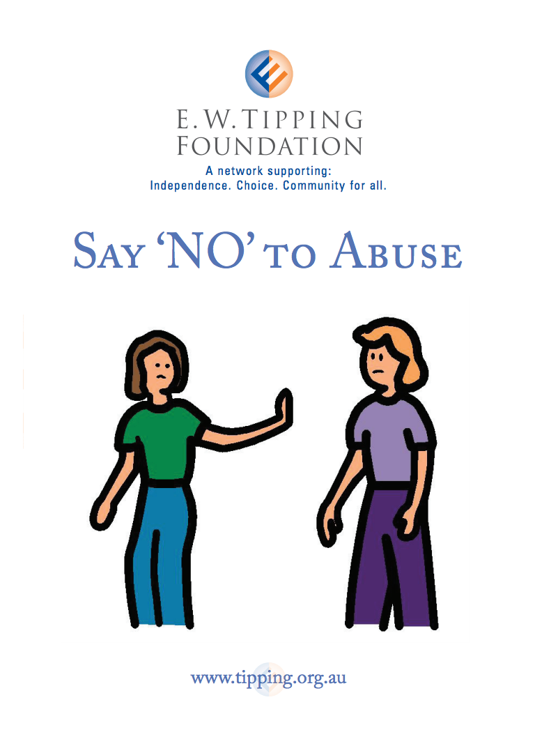 Say No To Abuse - Page 1