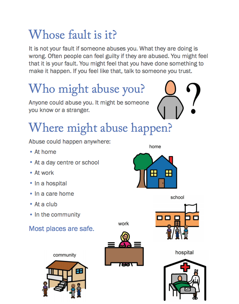 Say No To Abuse - Where Might it Happen?