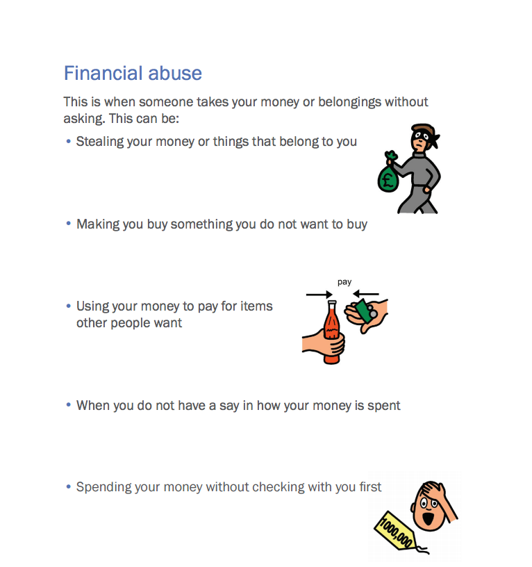 Say No To Abuse - Financial Abuse