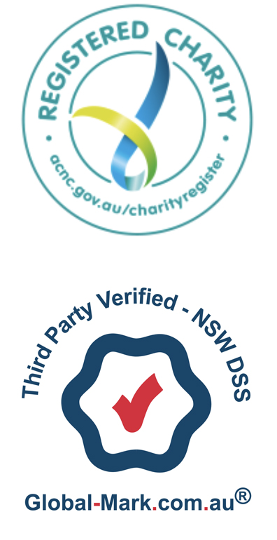 Registered Charity and Third Part Verified Logos